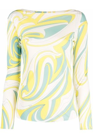 Emilio Pucci Women Long Sleeve - Nuages-print long-sleeve top