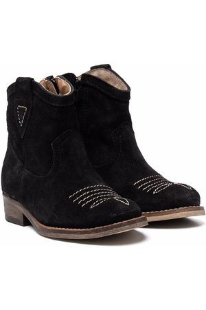 TWO CON ME BY PÈPÈ Signature-stitching ankle boots