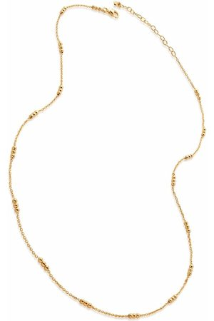 """Monica Vinader Triple beaded 18-20"""" chain necklace"""