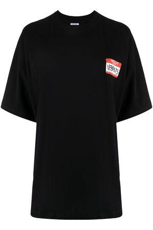Vetements Women Short Sleeve - Logo-print cotton T-shirt