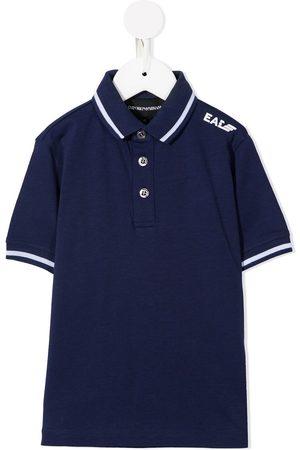 Emporio Armani Boys Polo Shirts - Logo-print polo shirt
