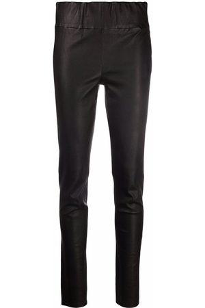 arma leder Women Skinny Pants - Elasticated-waist trousers