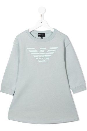 Emporio Armani Girls Casual Dresses - Logo-print dress