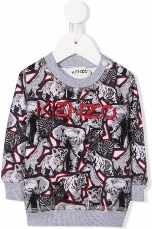 Kenzo Animal-print cotton sweatshirt