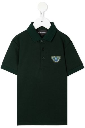 Emporio Armani Boys Polo Shirts - Logo patch polo shirt