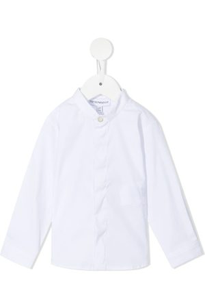 Emporio Armani Baby Tops - Band-collar concealed shirt