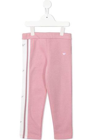 Emporio Armani Girls Pants - Side logo-print rousers