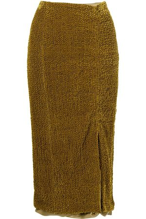 Muller Of Yoshiokubo Textured ruched pencil skirt