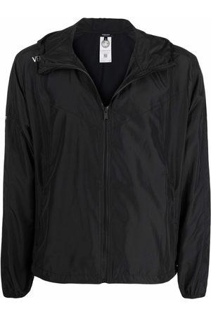 VERSACE Greca-print hooded jacket