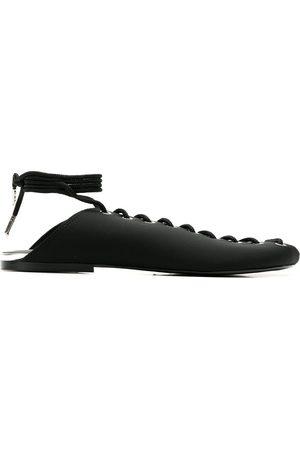 Gloria Coelho Lace-up slippers
