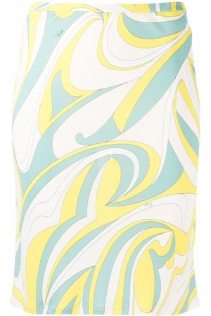 Emilio Pucci Women Printed Skirts - Nuages-print straight skirt