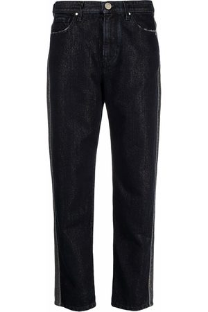 Jacob Cohen Racer-stripe tapered jeans