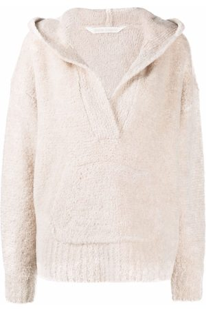 Palm Angels FLEECY KNIT HOODY OFF WHITE OFF WHITE