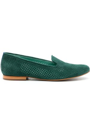 Blue Bird Women Loafers - Perforated suede loafers