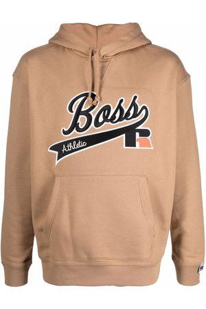 HUGO BOSS Logo-patch long-sleeved hoodie