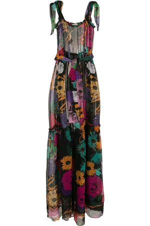 AMIR SLAMA Semi-sheer silk maxi dress