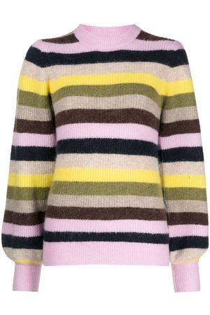 Ganni Striped wool-blend jumper