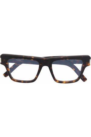 Saint Laurent Square frame tortoise glasses