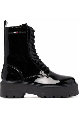 Tommy Hilfiger Patent lace-up boots
