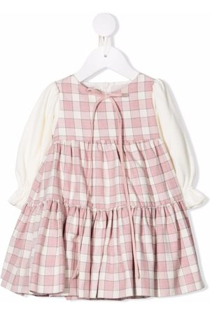 LA STUPENDERIA Plaid-check print dress