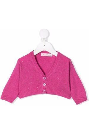 MISS BLUMARINE Cropped button cardigan