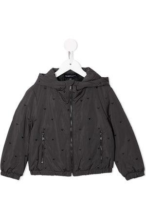 Emporio Armani All-over embroidered logo jacket