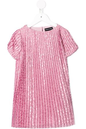 Emporio Armani Girls Casual Dresses - Pleated short-sleeved dress