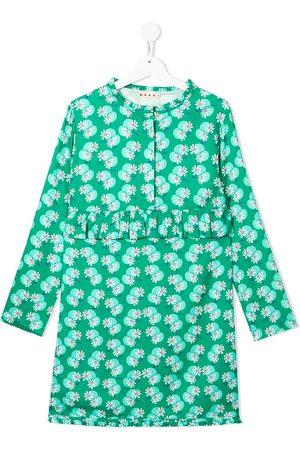 Marni TEEN floral-print long-sleeve dress