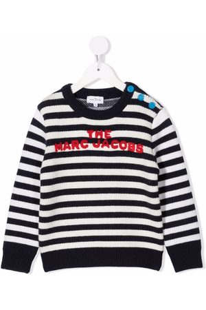 The Marc Jacobs Embroidered-logo striped jumper
