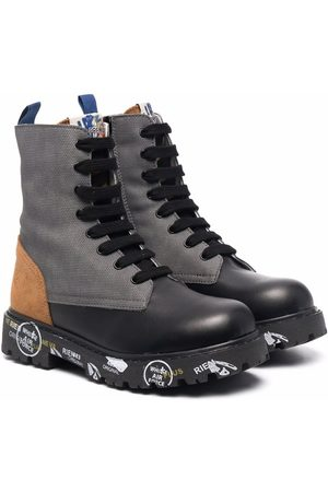Premiata Boys Boots - Panelled leather boots