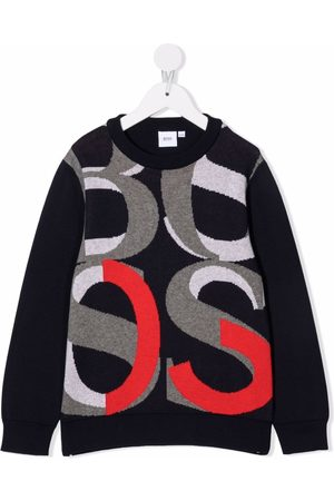 HUGO BOSS Boys Jumpers - Intarsia-knit cotton jumper
