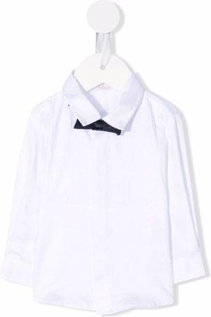 Le Bebé Enfant Bow-detail cotton shirt