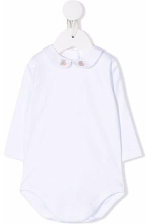 Mariella Ferrari Embroidered-edge cotton bodysuit