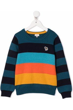 Paul Smith Big Pony-patch stripe-print jumper