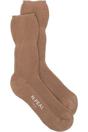 N.PEAL Rib-knit bed socks