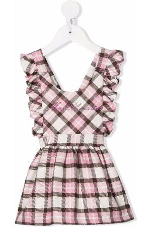 MISS BLUMARINE Check ruffle dress