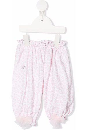 MISS BLUMARINE Leopard-print trousers