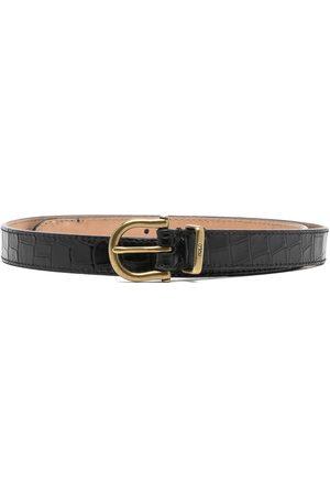 Polo Ralph Lauren Women Belts - Crocodile-embossed leather belt