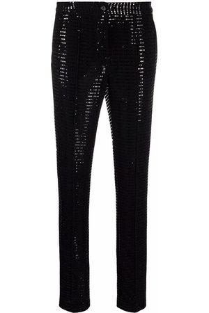 TALBOT RUNHOF Women Skinny Pants - Embellished slim-fit trousers