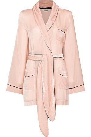 Sleeping with Jacques Women Bathrobes - Bon Vivant velvet-effect robe