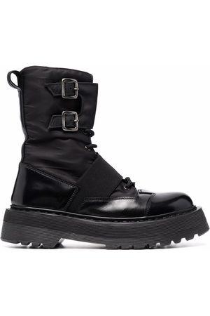 Premiata Double-buckle lace-up boots