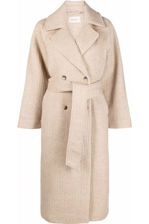 Holzweiler Double-breasted belted coat