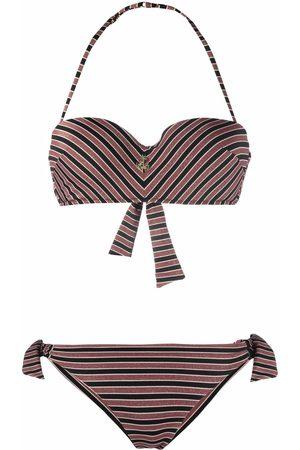 Emporio Armani Striped bikini set