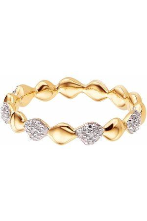Monica Vinader Women Rings - Nura Teardrop Mixed Eternity diamond ring