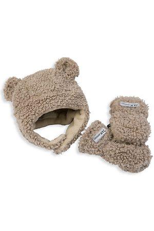 7AM Baby's 2-Piece Teddy Hat & Mittens Gift Set