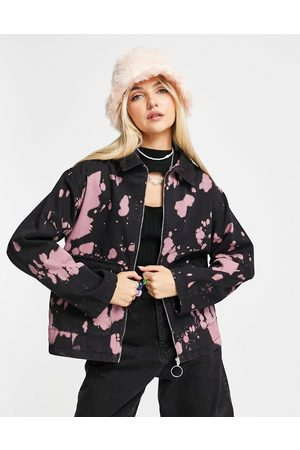 ASOS Tie dye shacket in black and pink
