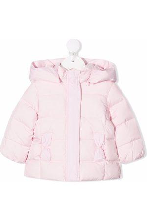 Le Bebé Enfant Baby Jackets - Bow-detail padded hooded jacket