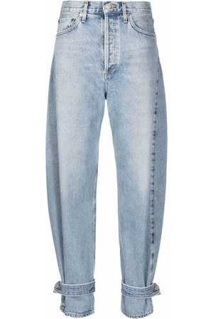 AGOLDE Ankle-strap tapered jeans