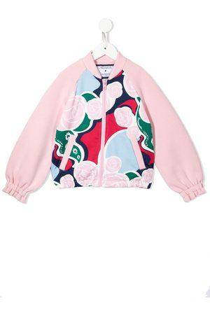 Simonetta Abstract rose print bomber jacket