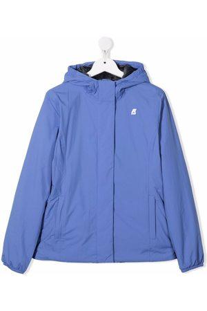 K-Way Chest logo-patch jacket